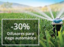 30% de descuento en difusores para riego automático